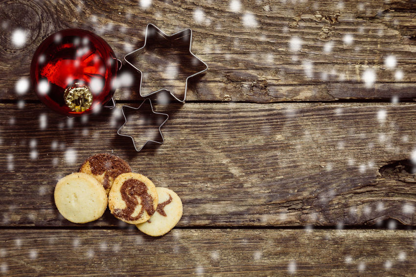 Baked Christmas Close-up Cookie Day Directly Above Food Food And Drink Freshness Fruit Healthy Eating High Angle View Indoors  No People Still Life Sweet Sweet Food Table Wood Wood - Material