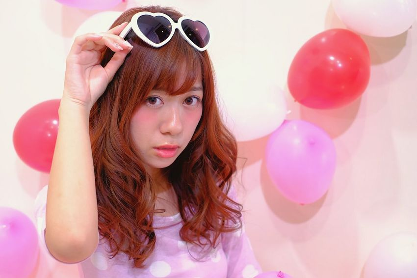 モデルはゆかちゃん。撮影して欲しいと言うことで、わざわざ愛知から埼玉まで来てくれました😆ロングヘア Longhair 風船 Balloon 美容院 Hairsalon