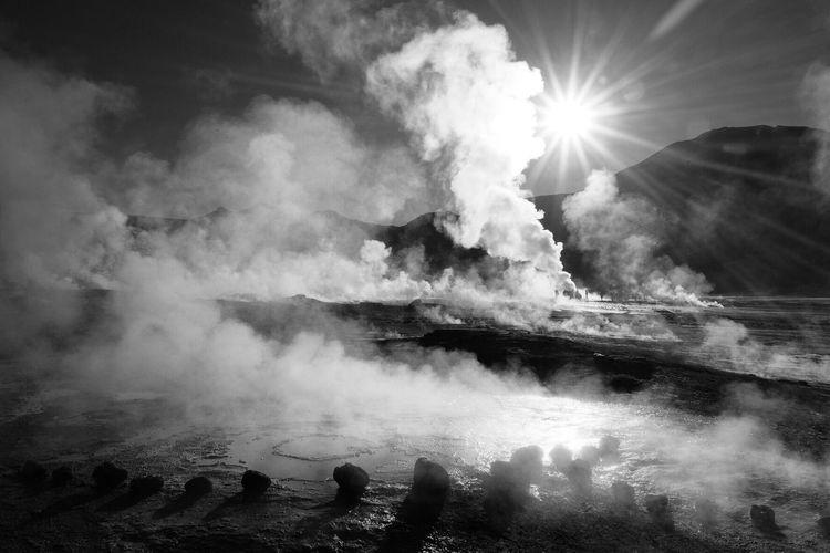 Geyser hot springs