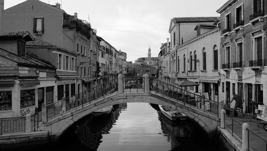 Venice... Venice Canal Blackandwhite Fuji Xm1
