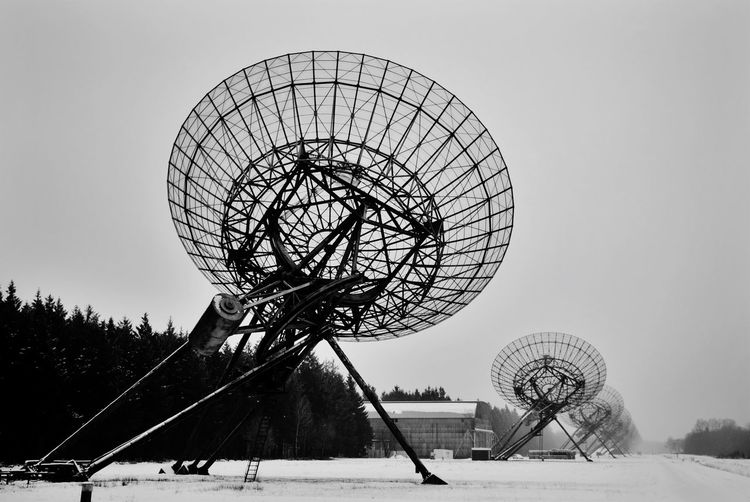 Radiotelescope Technology Scientific Experiments Scientific Research Space Radioastronomy Space Exploration Science Radiotelescope Industrial Snow Sky Satellite Dish No People