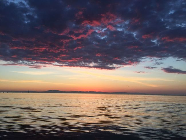 Beauty In Nature Cloud - Sky Day Holiday Horizon Over Water Idyllic Nature No People Outdoors Rippled Scenics Sea Sky Sunset Tranquil Scene Tranquility Water Waterfront