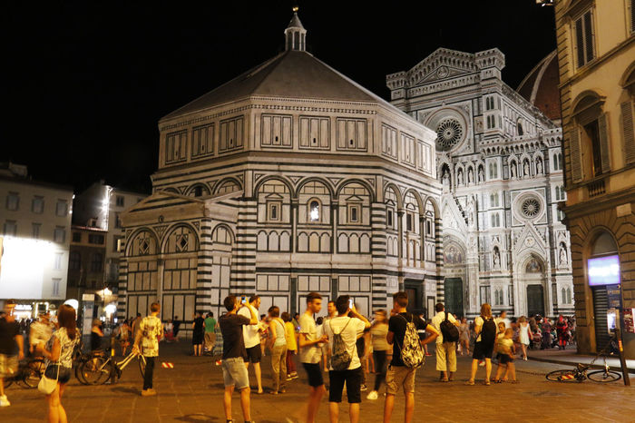 Historical Landmark Firenze Florence International Landmark Italy Night Shot Piazza Del Duomo Tourist Attraction  Tourist Attractions