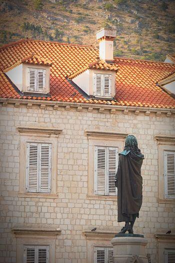 Statue Mountain Croatia History Philosopher House Urban Nature