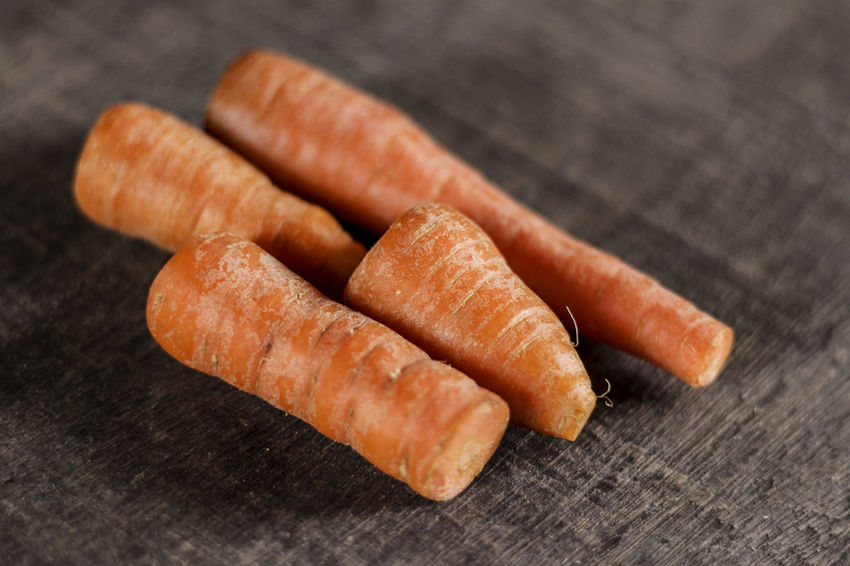 Baby Carrots Carrot Close-up Day Food Food And Drink Freshness Healthy Eating Horizontal Indoors  No People Ready-to-eat Sausage Table Vegetable