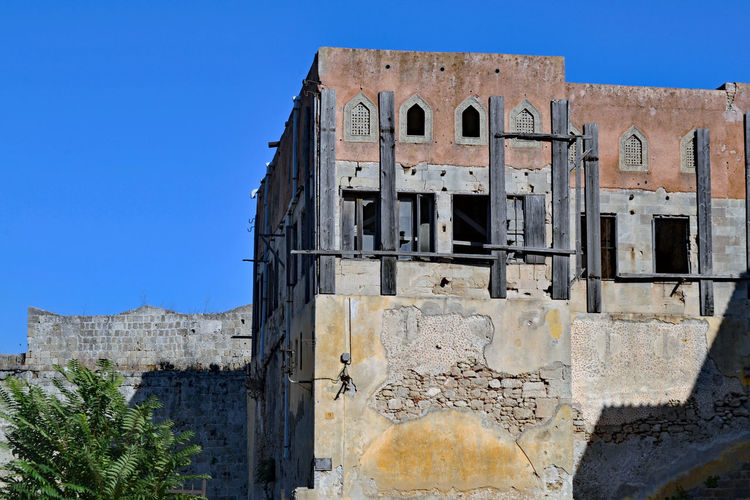 the ruins from