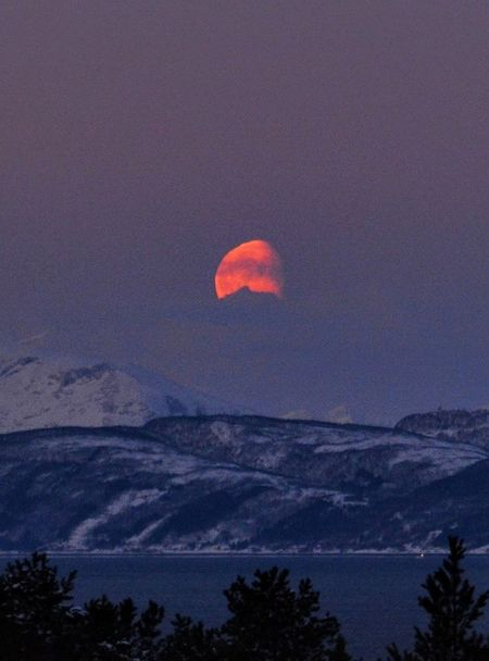 Sunset Arctic Beautyinnature  Beauty In Nature Norway🇳🇴 Moon Picoftheday Photooftheday Photography Outdoors Night Nature No People Beauty In Nature Sky Astronomy