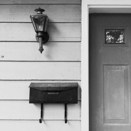 Knock knock Blackandwhite Home Mail Lines Wall - Building Feature Built Structure No People Architecture Lighting Equipment Electricity  Building Exterior Outdoors