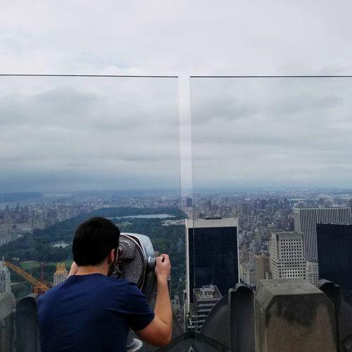 #manhattan #NYC #NewYork  #binoculars #centralpark #cloudy Cloud - Sky Cityscape