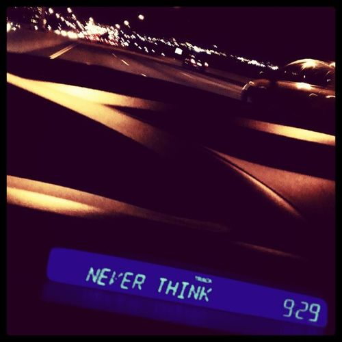 never think Songtitle Night Driving Music Bridge Blur IGDaily HamOnt Htc1x