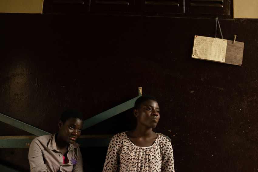 The Daughters. Cape Coast Composition Daughters Ghana Travel West Africa West African Girl Girls Indoors  Lifestyles Portrait Portrait Photography Real People Togetherness Two People Women Young Women The Portraitist - 2018 EyeEm Awards