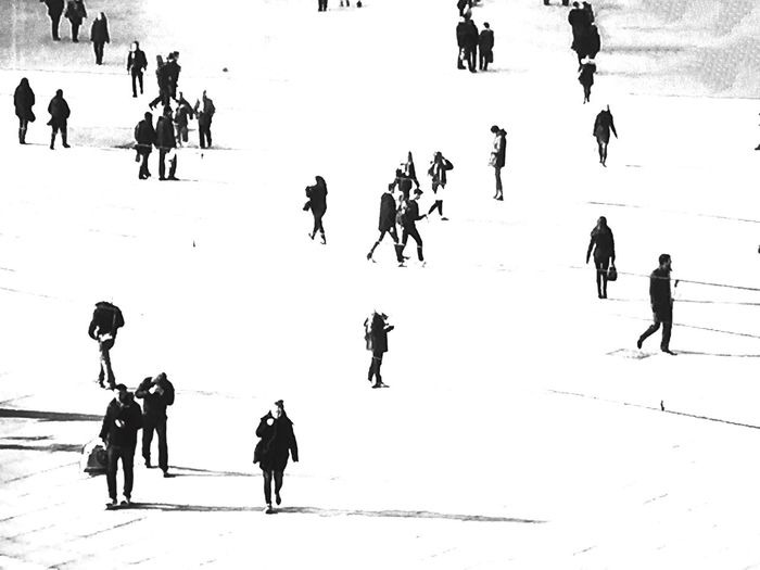 People walking on road