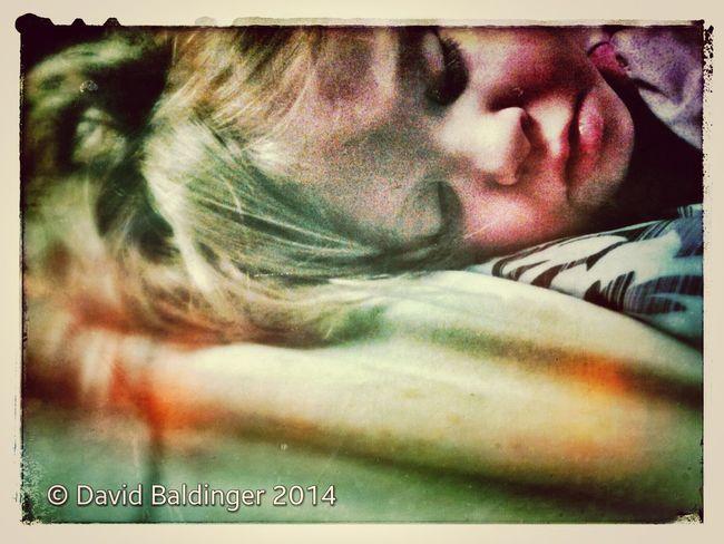 Sleeping Child Kid Too Cute! Snapseed