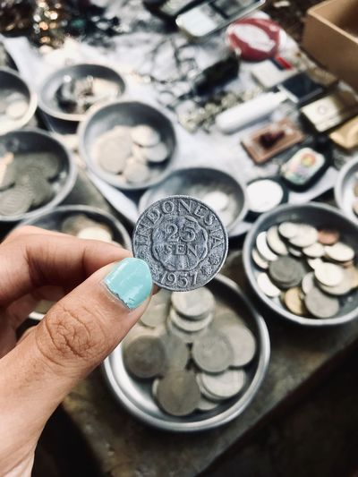 old coin Depth Effect Coin Coins Money Around The World Money Human Hand Hand Holding Human Body Part One Person Real People Indoors  Finger Jewelry Luxury Focus On Foreground