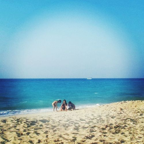 Beach Sea Sand Sky Nature Togetherness Outdoors Summer Clear Sky Day Blue People Children Playing Children_collection Children Childhood Children Only Childhood Memories Childsplay Child Playing Children's Day Taken By Myself Childrenphoto Taken By Me By Myself