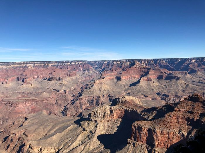 Top Angle view from Mather Point!😃 Sky Scenics - Nature Tranquility Tranquil Scene Blue Beauty In Nature Nature Landscape Environment Sunlight Day Clear Sky