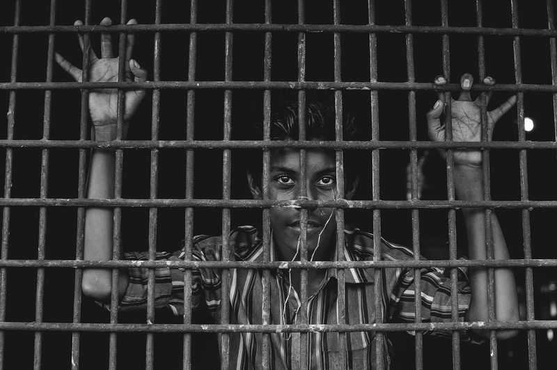 Stuck in cage. Portrait Portraiture Window The Global EyeEm Adventure Week On Eyeem Eyeemmarket Eyem Gallery Bangladesh Eyeemadventure Travel Photography Blackandwhite The Portraitist - 2017 EyeEm Awards