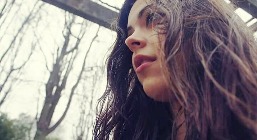 Dramatic Angles Rainy Days Young Adult Long Hair Young Women Tree Person Beauty Woman Natural Cloud Sky Day