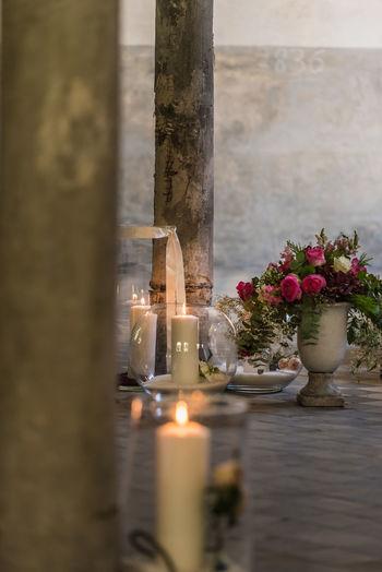 gothic still, wedding lights EyeEm Selects Water Flower Wineglass Close-up Candlestick Holder Candlelight Candle Vase Idyllic Lit Altar Flower Arrangement Darkroom Flame Burning