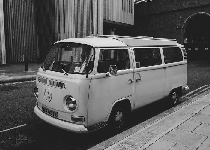 Camper van parked near Sampson House, Southwark. Taking Photos Check This Out Blackandwhite Black&white Streetphoto_bw London Van VW Volkswagen