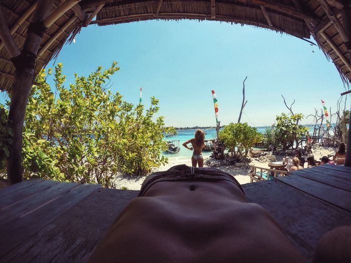 To awaken alone in a strange town is one of the pleasantest sensations in the world. Tropical Bali Paradise Giliislands Gopro Nature Beach Girl Blonde Beatiful