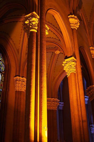 Church columns Church Columns Lighting Shadows Pillars