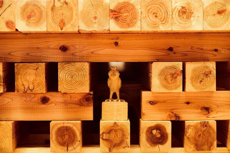 Full frame shot of ornate carving on wood