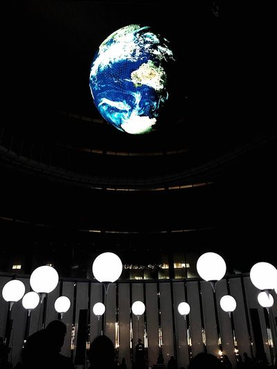 Floating earth Illuminated Low Angle View Night Technology No People Gaia Earth World Floating