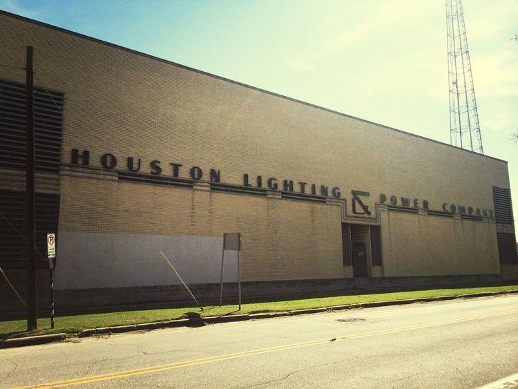 Houston lighting and power company Typography HoustonTexasBaby