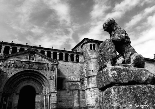 Architecture Art And Craft Asturias Asturies Black And White Building Exterior Built Structure Celtic España Franciscodelbosquet Fuji X20 Hiking Holiday Landscape Low Angle View Religion Santillana Del Mar SPAIN