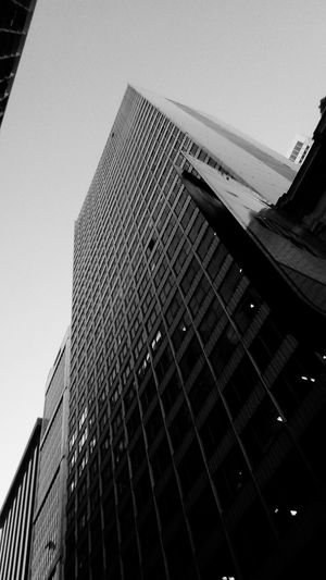 Architecture Built Structure Skyscraper Building Exterior Modern Low Angle View City Day Outdoors No People Travel Destinations Sky Black And White Centro Do Rio Black And White Friday