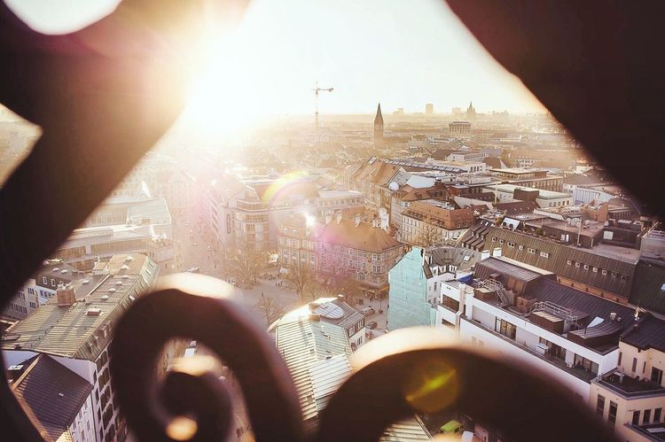 Munich Outlook View View From Above Sunset München St. Peter Alter Peter City