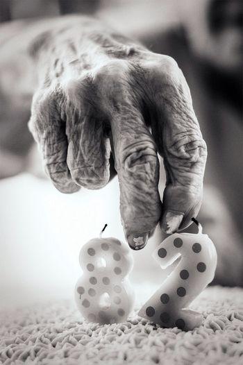 Grandma's 82nd Birthday Birthday Blackandwhite Grandma Blancoynegro