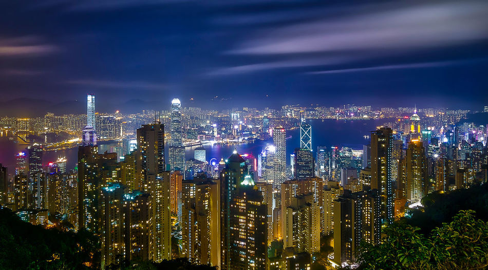Hong Kong City Lights Architecture Built Structure Capital Cities  City City Life Cityscape Development Financial District  Hong Kong HongKong Illuminated Light Modern Night No People Office Building Outdoors Residential District Sky Skyline Skyscraper Tall Tall - High Travel Destinations Urban Skyline