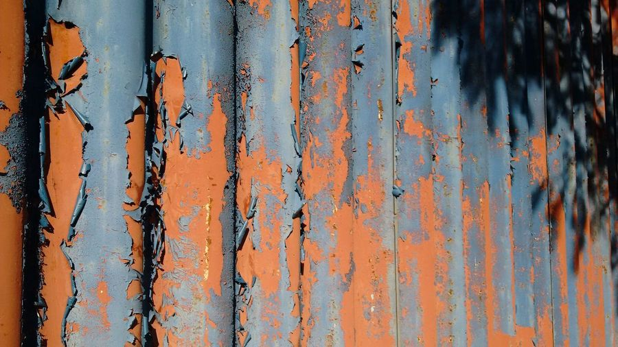 Sunlight Falling On Corrugated Iron