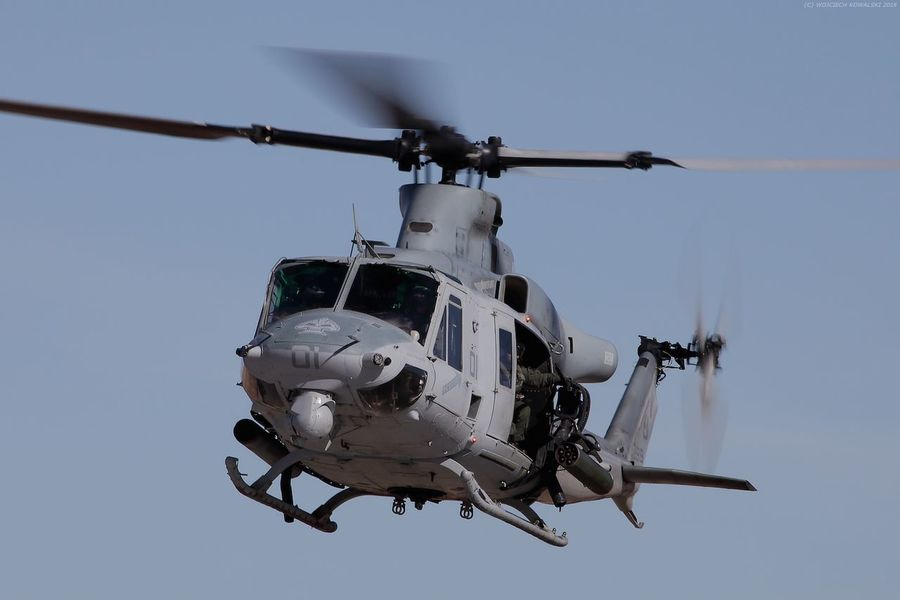 Aerospace Industry Air Force Air Vehicle Army Chopper Day Flying Helicopter Huey Marine Corps Marines Military Motion No People Outdoors Rotor Transport Transportation UH-1 UH-1Y USMC Venom Weapon
