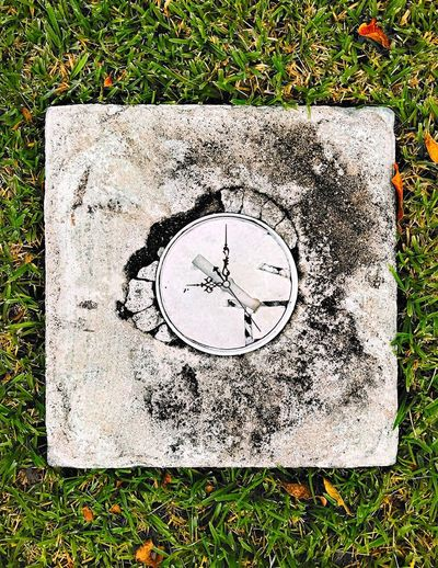 High Angle View Grass Close-up Geometric Shape Circle Outdoors Watch Color And Patterns No People Clock Abstract Sidewalk Kris Slater Photoshop Time Fine Art Clock Face Clock Hands Watch Hands Drainpipe Water Pipe Drain Cover Drain Hole Eyeem School Of Photography Contrasting Colors