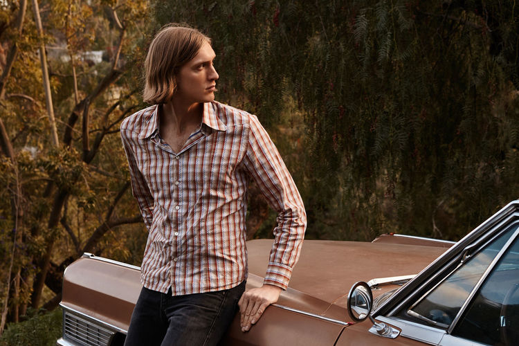 Photo Shootin' 1970s 70s Vintage Vintage Car Groovy Brown Car Man Male Model Looking Away Warm Colors Autumn Fall Leaning Blond Hair Man With Long Hair Hipster Retro Retro Styled El Camino One Person Casual Clothing California California Dreamin Road Trip Get Away