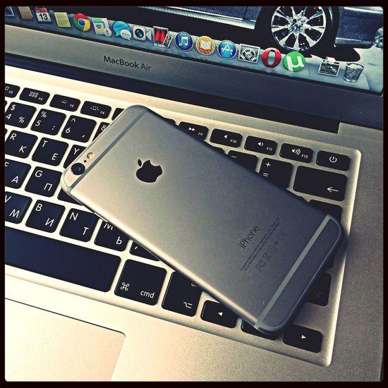 Мой новый айфон 6 Apple IPhone айфон MacBook Air Russia