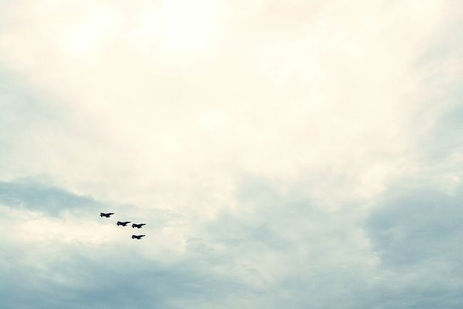 Flying Airplane Airshow Air Vehicle Cloud - Sky Military Airplane Air Force Military Aerospace Industry ArmyAirCorps Army Training  War