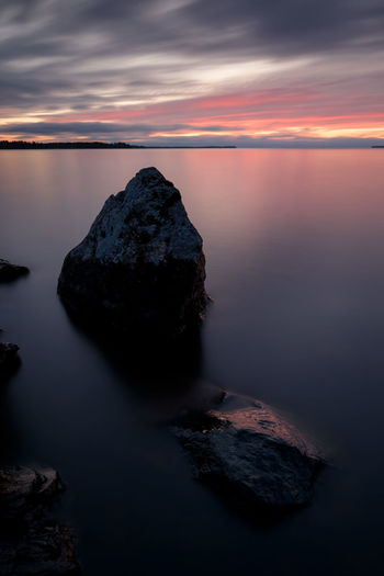 Rocks in calm