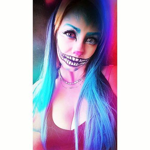ChesireCatMakeup Halloweenmakeup Halloween Makeup Makeupartist TimBurtonStyle