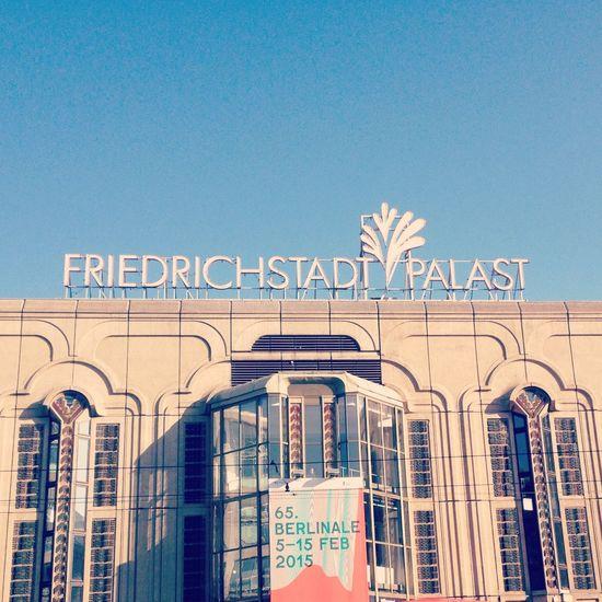 BerlinaleMoments Berlin Cinema Berlinale 2015 Friedrichstadtpalast Blue Sky Architecture Urban Urban Geometry