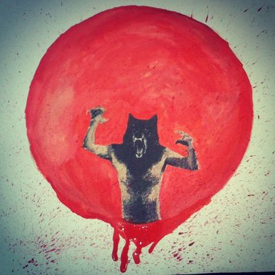 Mogwai - How to be a werewolf Drawing Watercolours Wolf Art