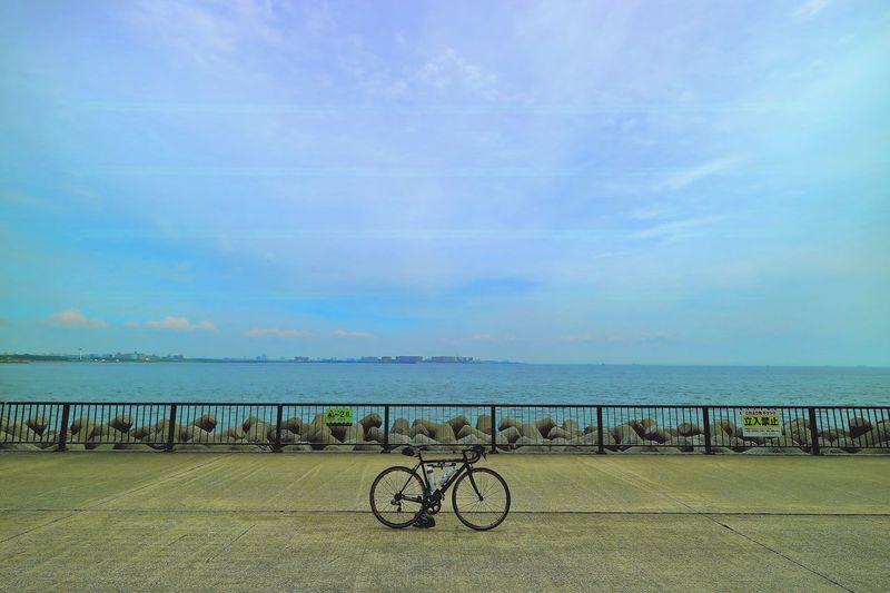 若洲海浜公園 Scenery Road Bike Sea Sky Cloud Open Edit Landscape_photography Taking Photos Eyem Best Shots Bulue Sky