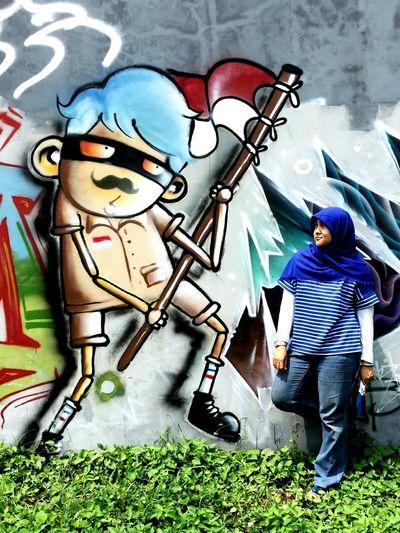 MERDEKA ! (?) Mural always amazed JustMe Weekend Getaway Bsdcity Street Art Tangsel