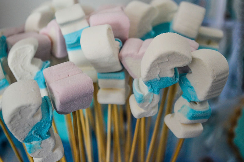 Close-up of marshmallows