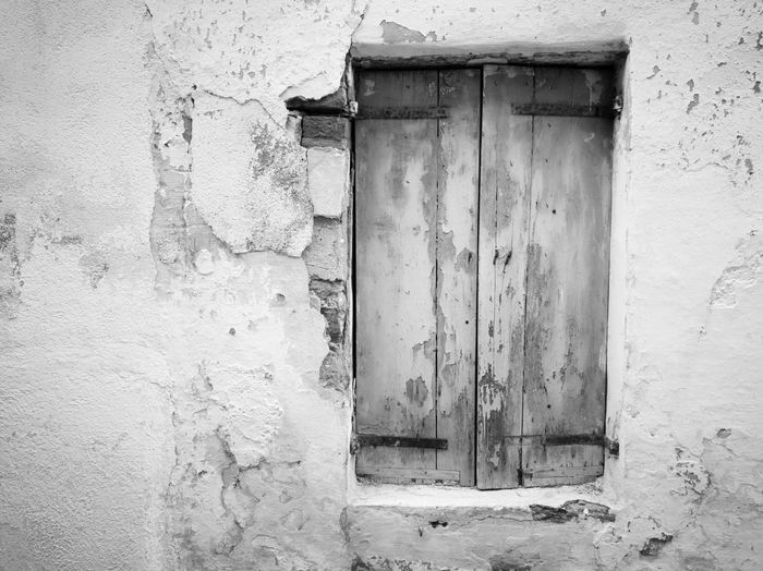 Full Frame Of Closed Wooden Window