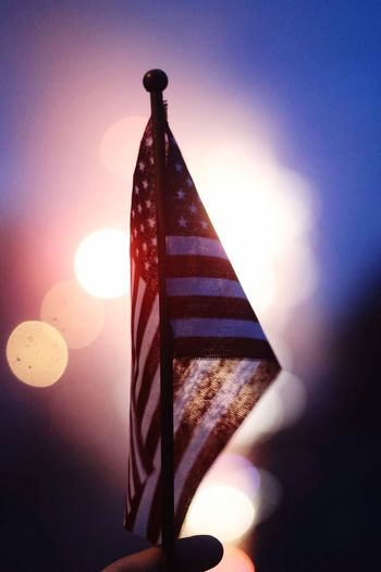 Sparks of independence Flag Patriotism Lens Flare Stars And Stripes Outdoors No People Clear Sky Close-up