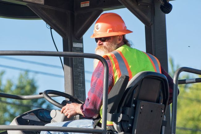 One Man Only Headwear One Person Protective Workwear Mature Adult Hardhat  People Reflective Clothing Day Occupation Outdoors Men Road Mode Of Transport Construction Hardhat  Street Working Hard Road Construction Man Syracuse Ny Beard ZZ Top